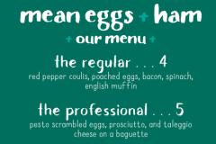 Mean Eggs + Ham - The Menu